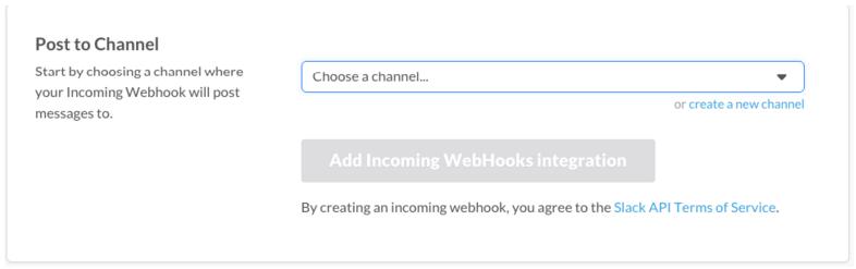 choose slack channel