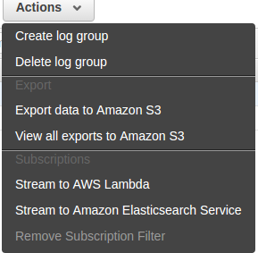 export data to amazon s3