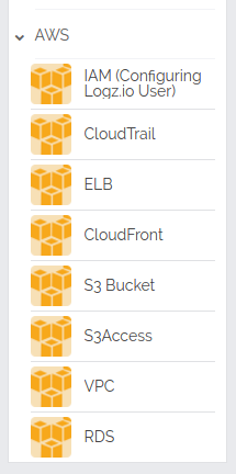 aws menu under log shipping section
