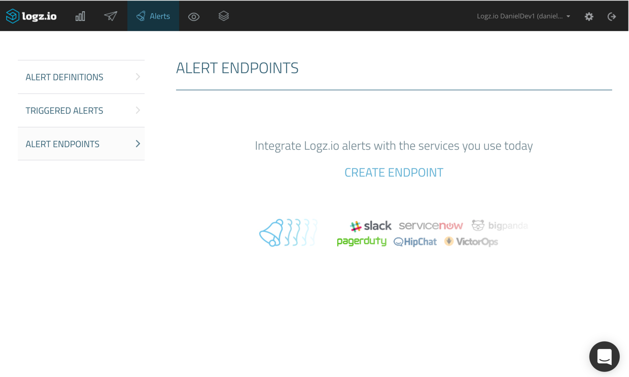 create alert endpoint