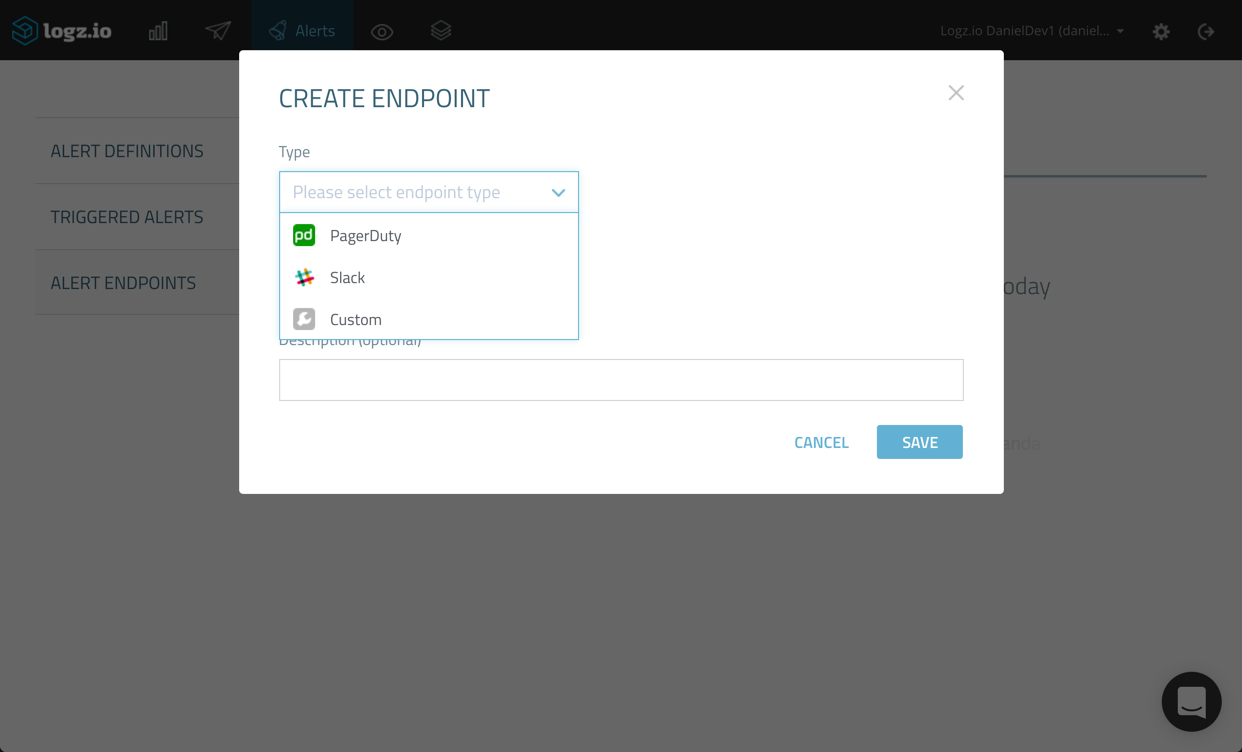 create endpoint dialogue