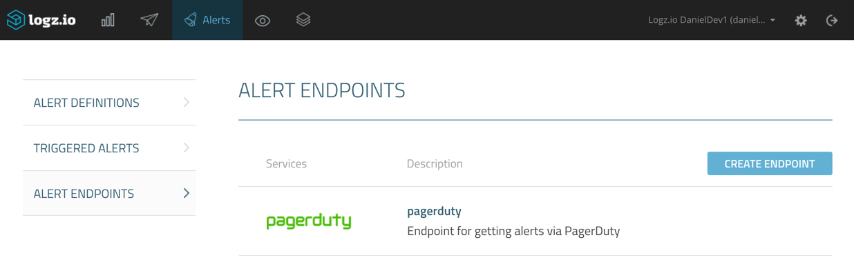 save pagerduty endpoint