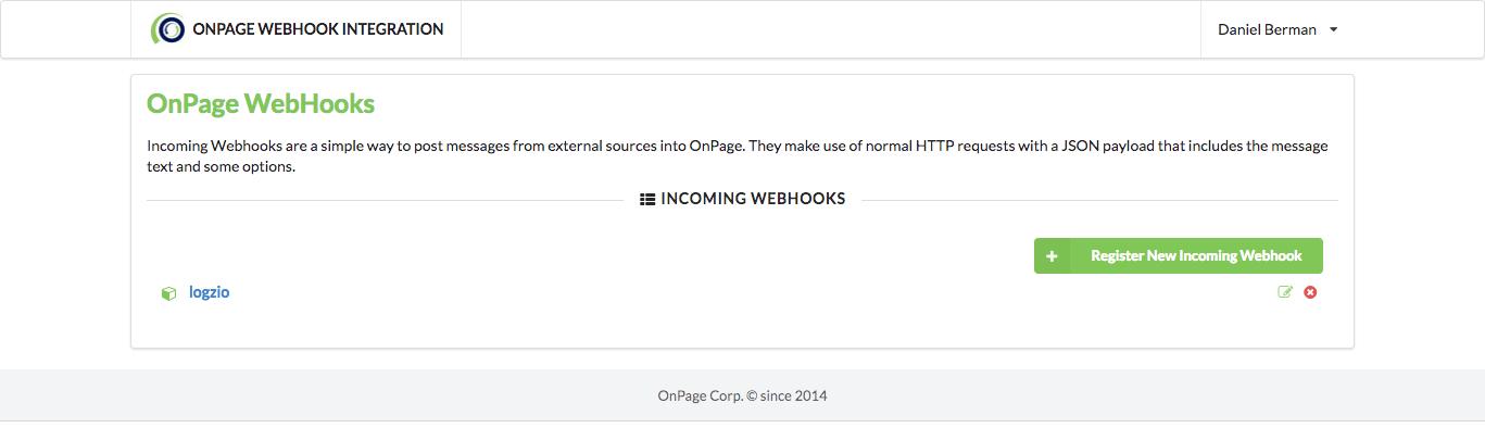 onpage webhooks
