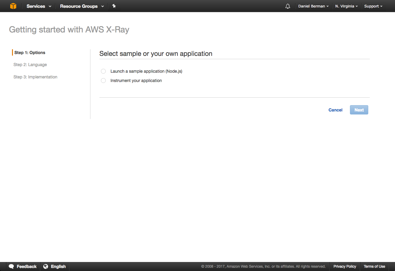 getting started with aws x-ray