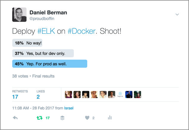 docker elk stack poll