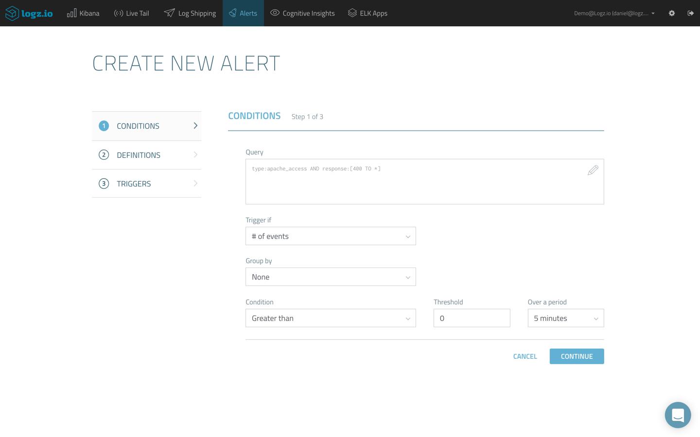 create new alert