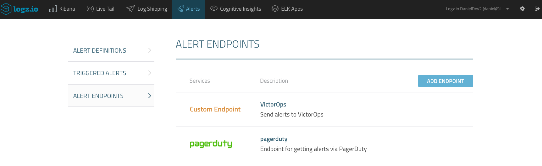 save new endpoint