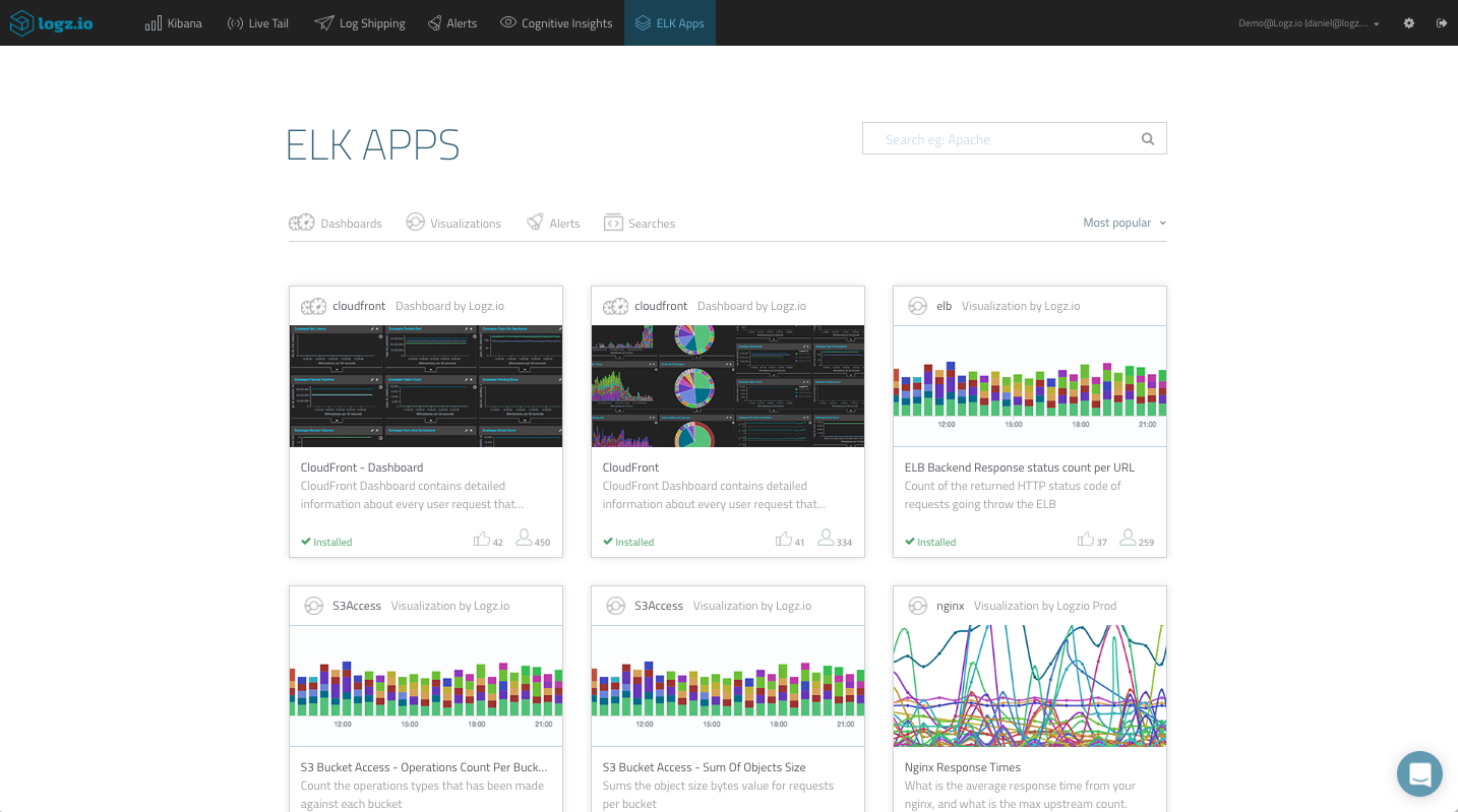 elk stack apps