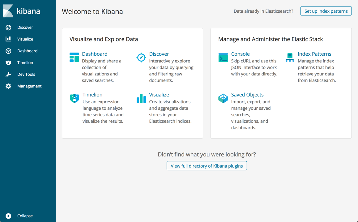 Welcome to Kibana