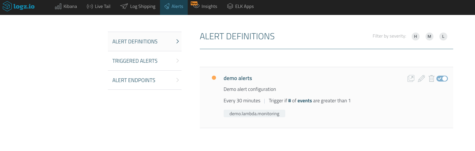 alert definitions
