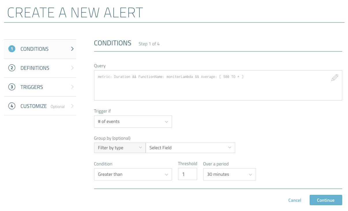 create alert