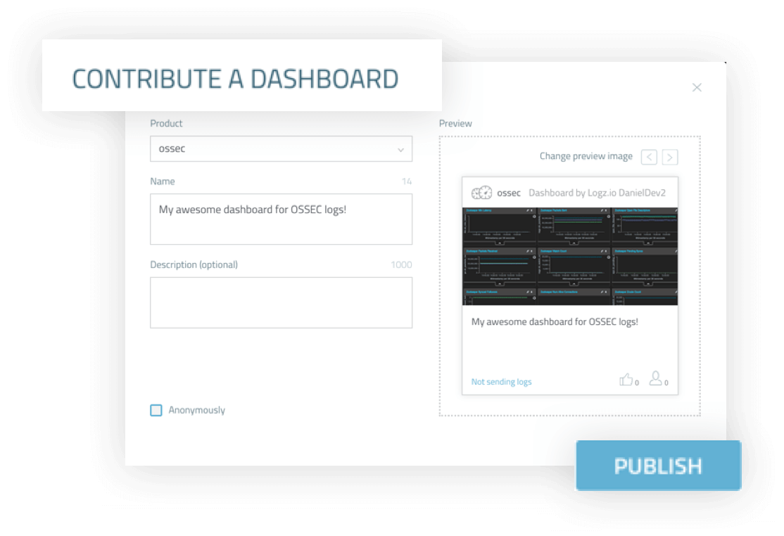 Contribute your dashboard