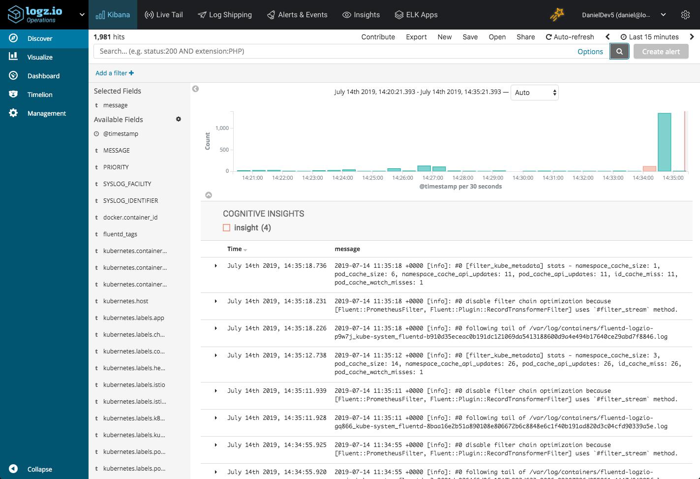 Logging Istio with ELK and Logz io - DZone Web Dev